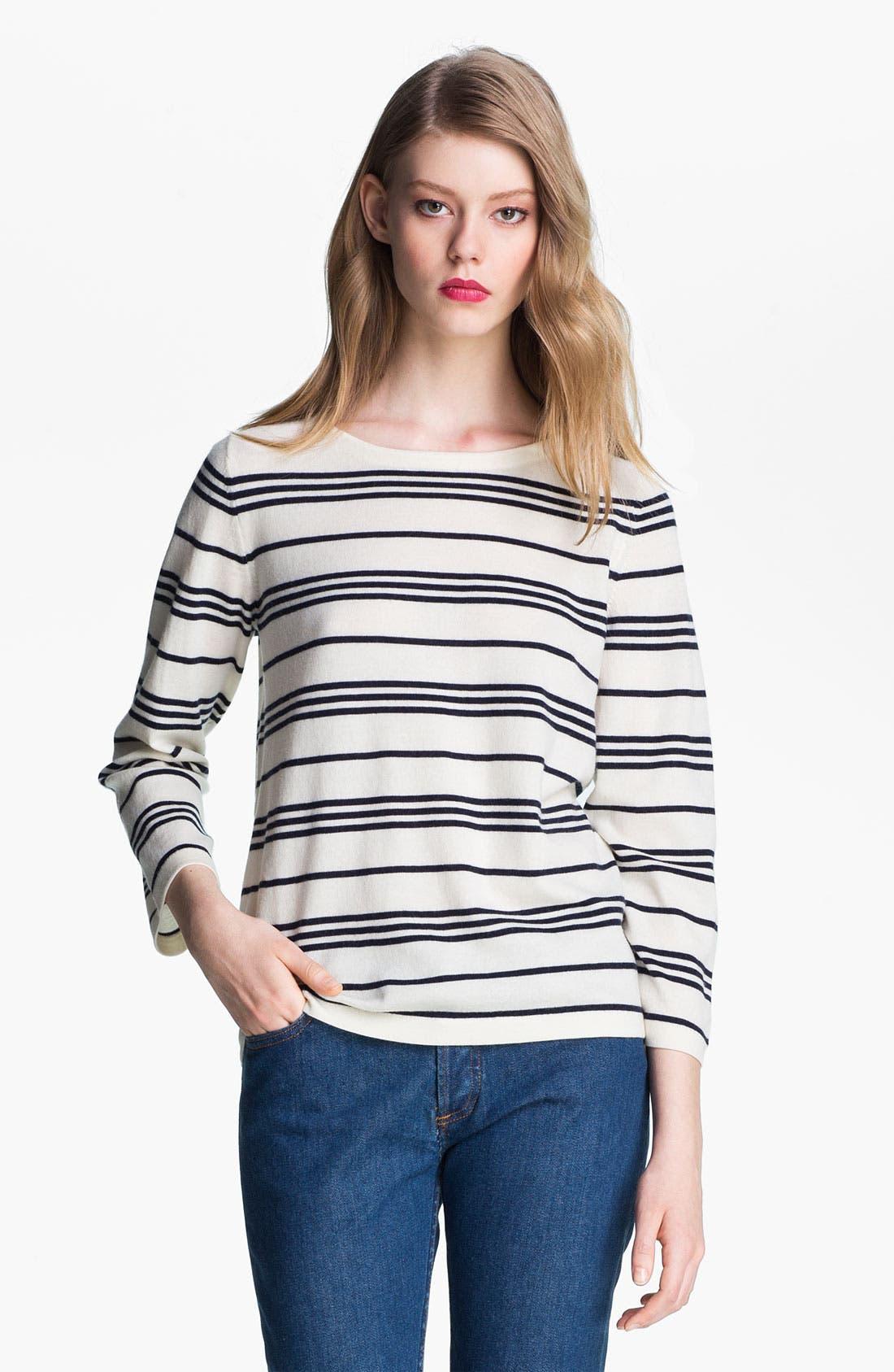 Alternate Image 1 Selected - A.P.C. Marinière Stripe Wool Sweater