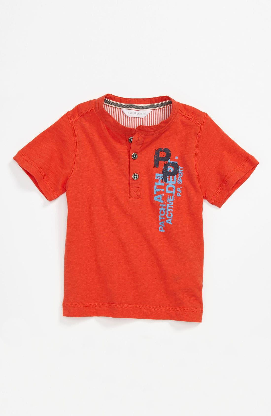 Main Image - Pumpkin Patch Cotton Henley (Infant)