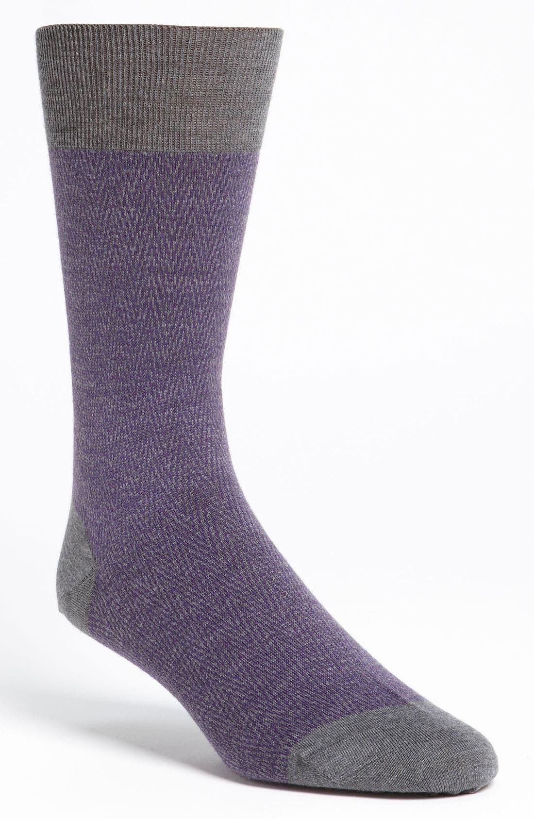 Alternate Image 1 Selected - Ermenegildo Zegna Herringbone Socks