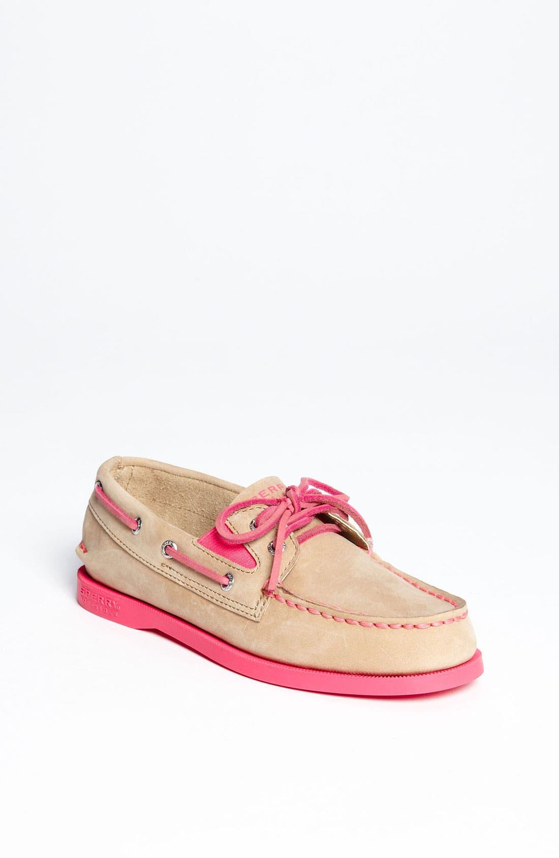 Alternate Image 1 Selected - Sperry Top-Sider® Kids 'Authentic Original' Boat Shoe (Walker, Toddler, Little Kid & Big Kid)