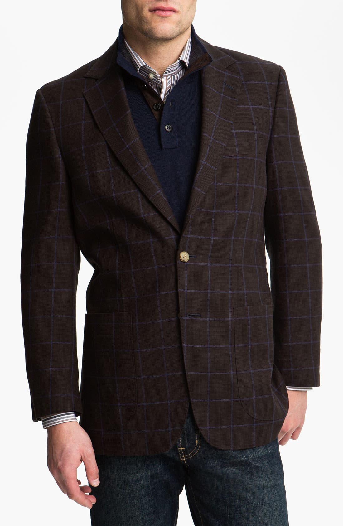 Alternate Image 1 Selected - Thomas Dean Cotton Sportcoat