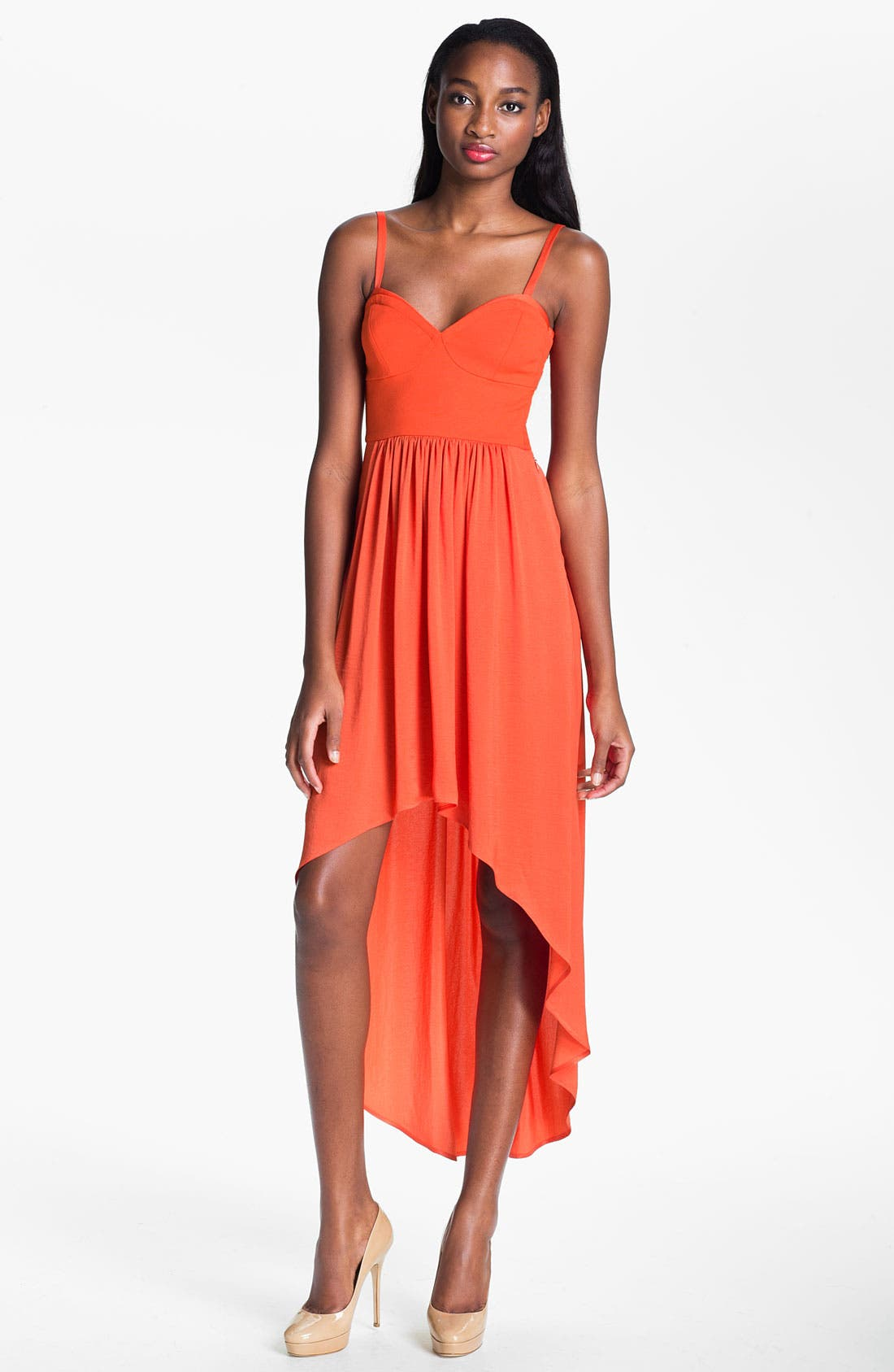 Alternate Image 1 Selected - BCBGMAXAZRIA High/Low Maxi Dress