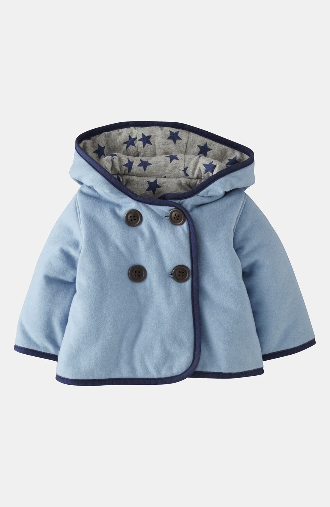Alternate Image 1 Selected - Mini Boden Padded Jersey Jacket (Baby)