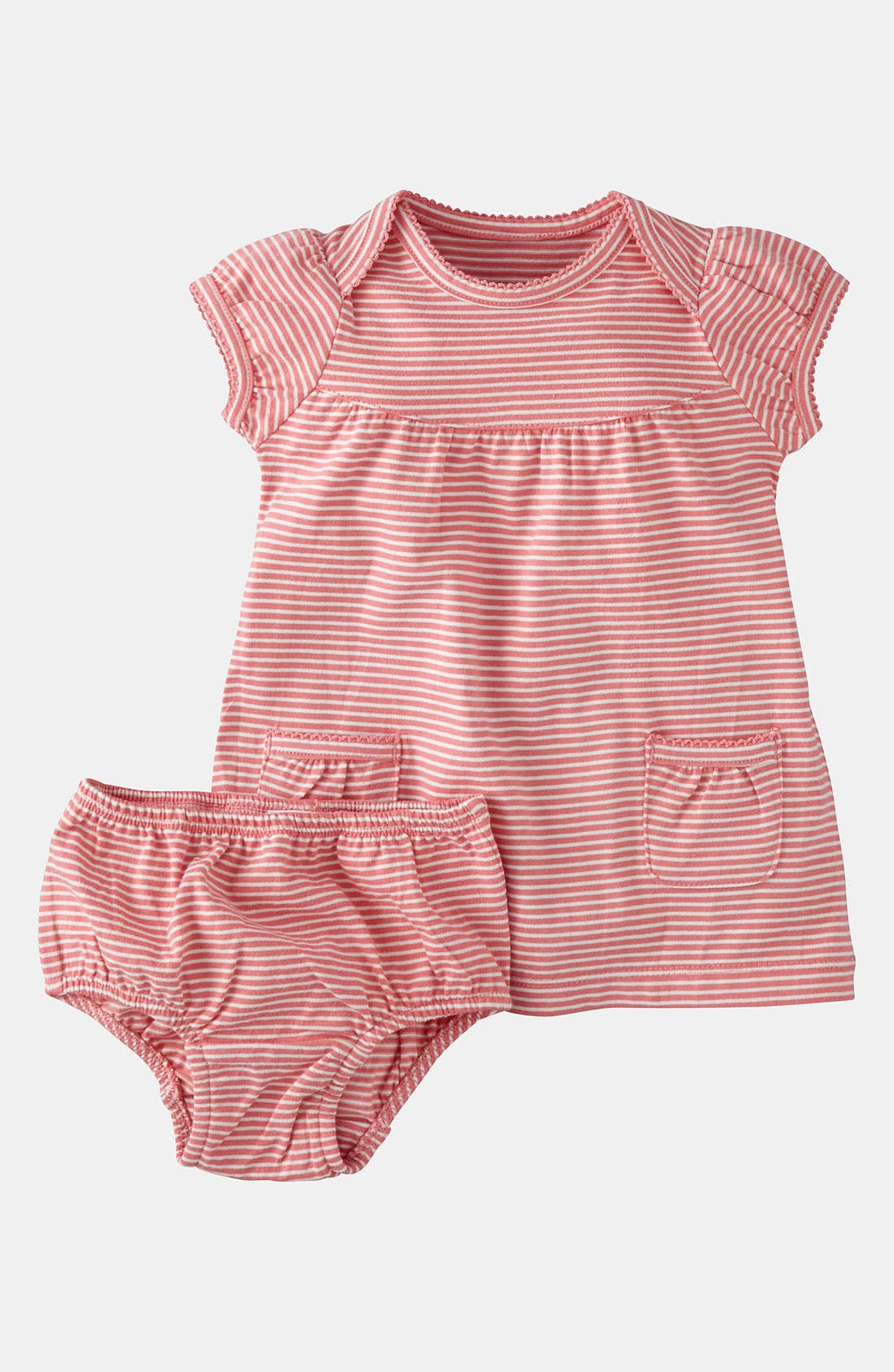 Alternate Image 1 Selected - Mini Boden 'Simple' Jersey Dress & Bloomers (Infant)