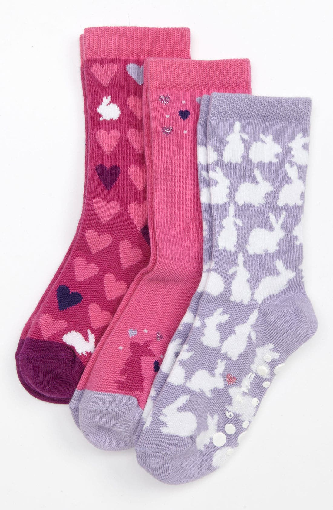 Alternate Image 1 Selected - Nordstrom 'Bunny Love' Crew Socks (3-Pack) (Girls)