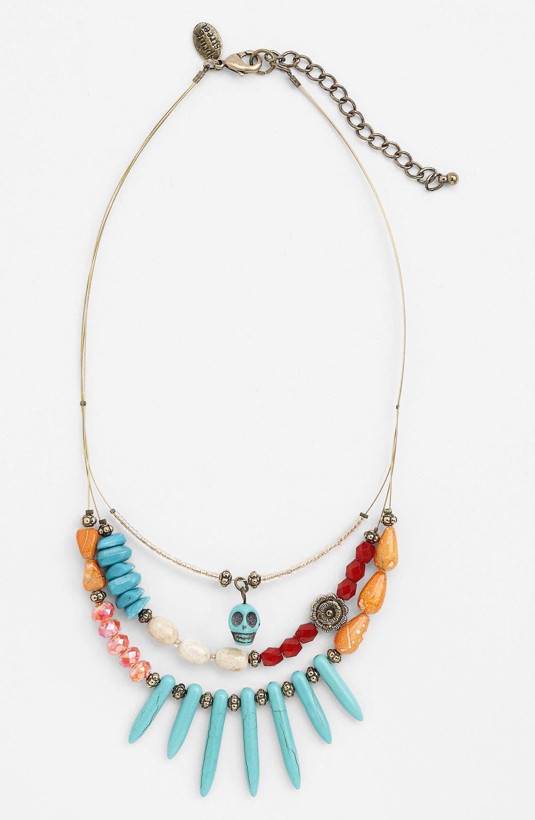 Main Image - Spring Street Multistrand Skull Necklace (Nordstrom Exclusive)