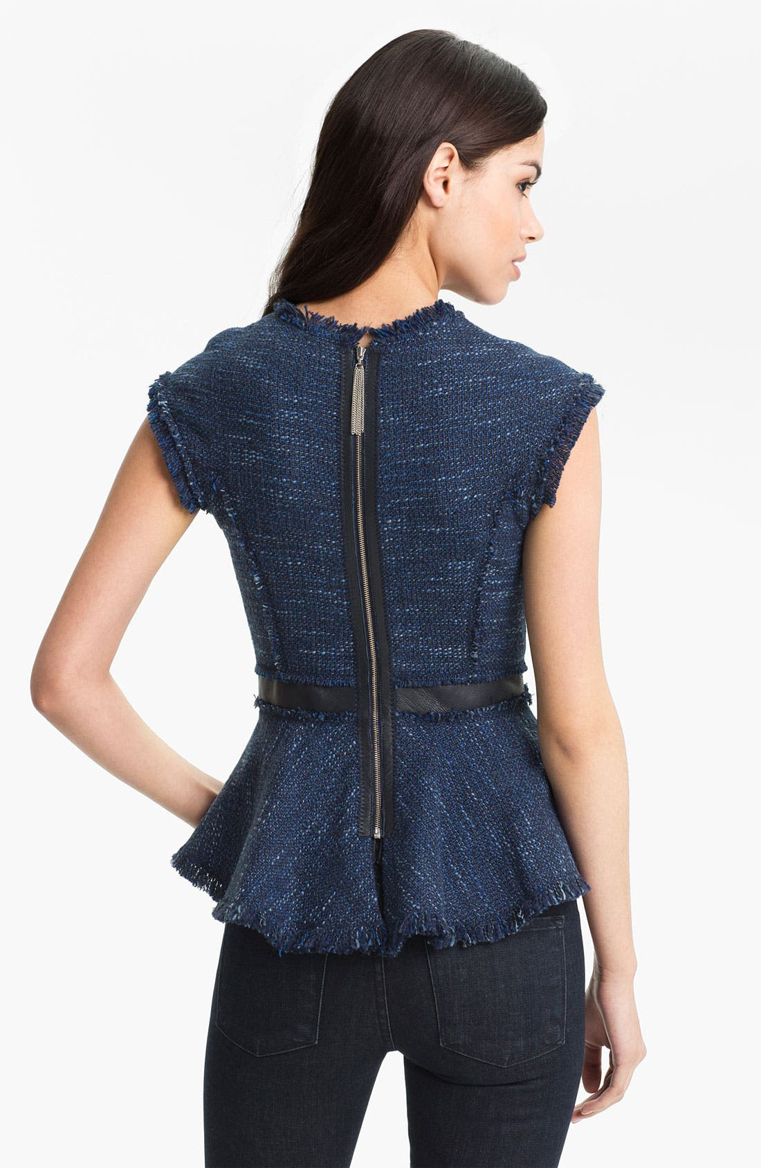 Alternate Image 2  - Rebecca Taylor Tweed Peplum Top