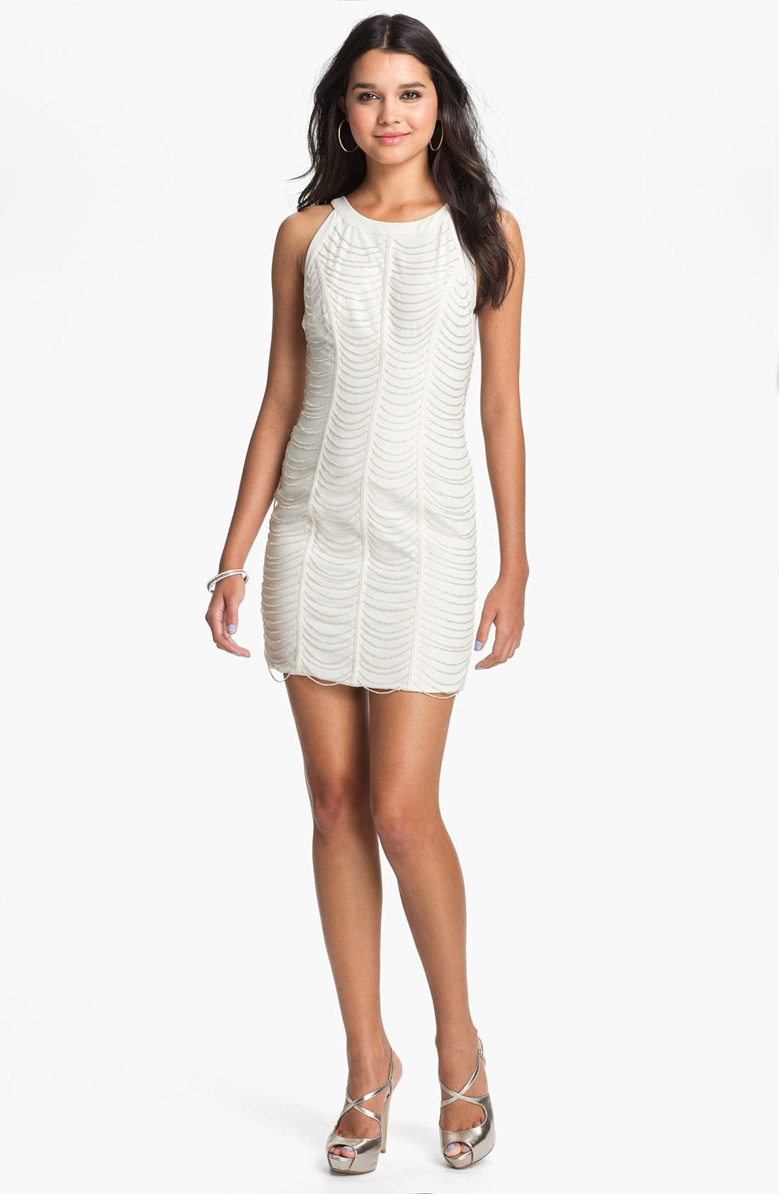 Alternate Image 1 Selected - Keepsake the Label 'Full Time Believer' Beaded Sheath Dress