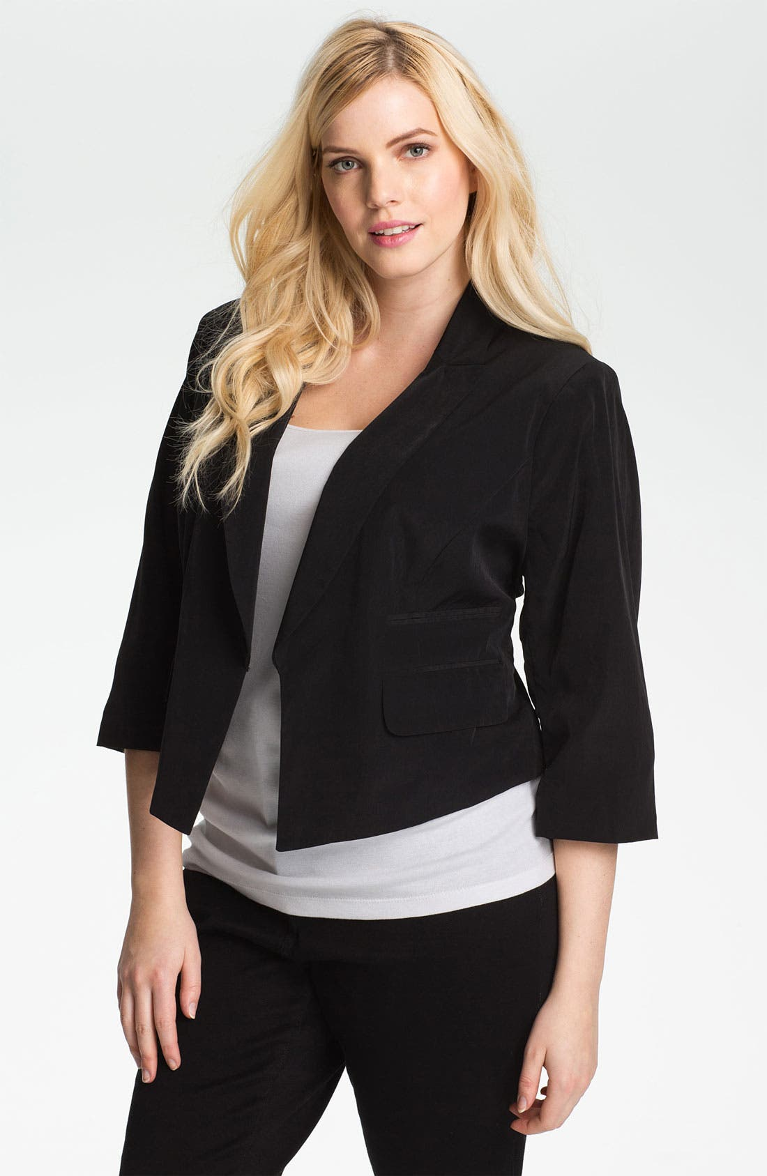 Alternate Image 1 Selected - Kenneth Cole New York Crop Jacket (Plus)