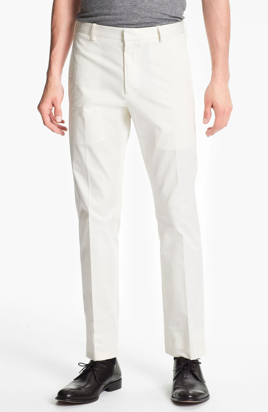 Alternate Image 1 Selected - Jil Sander Stretch Cotton Twill Pants