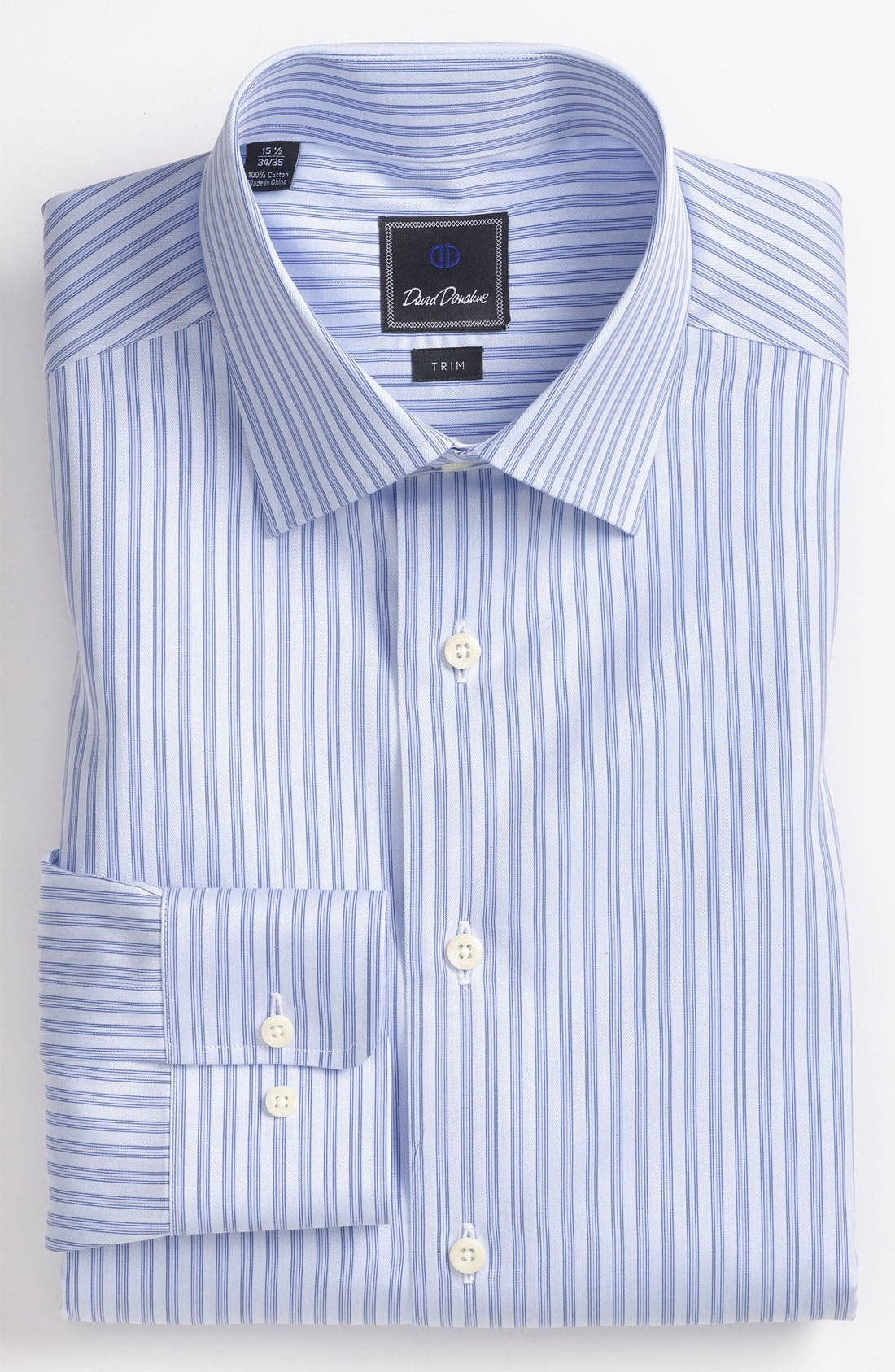 Main Image - David Donahue Trim Fit Dress Shirt