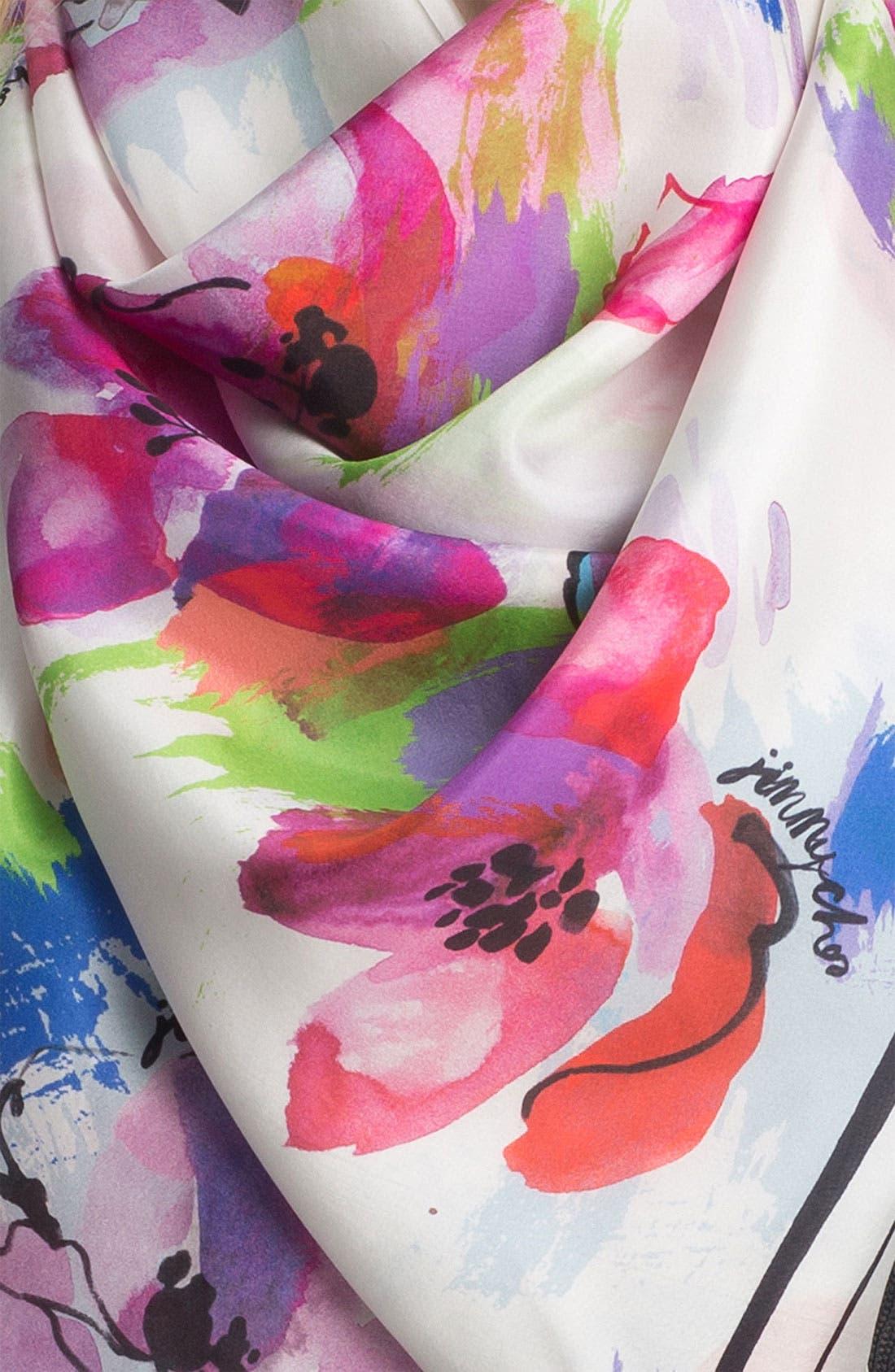 Alternate Image 2  - Jimmy Choo 'Seville' Silk Scarf