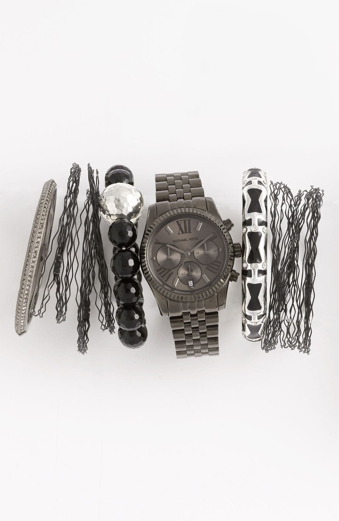Alternate Image 1 Selected - Michael Kors Watch & Simon Sebbag Stretch Bracelet