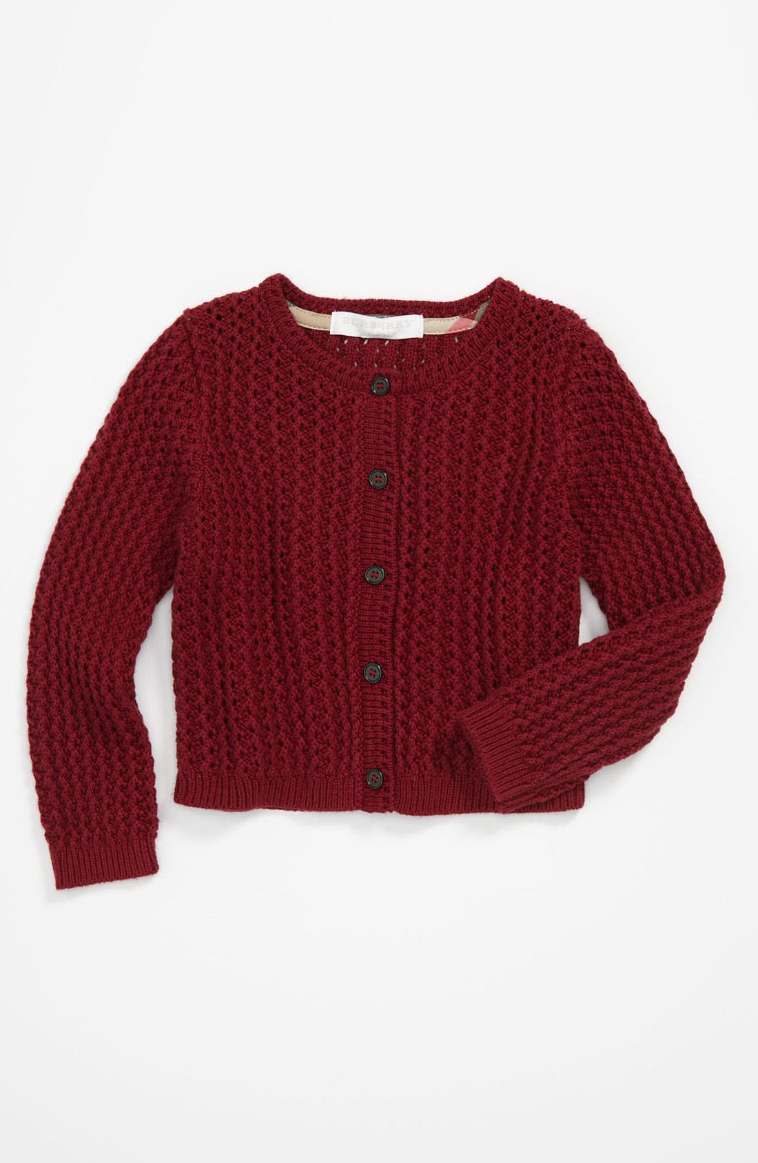 Main Image - Burberry 'Mini Tobalt' Cardigan (Baby)