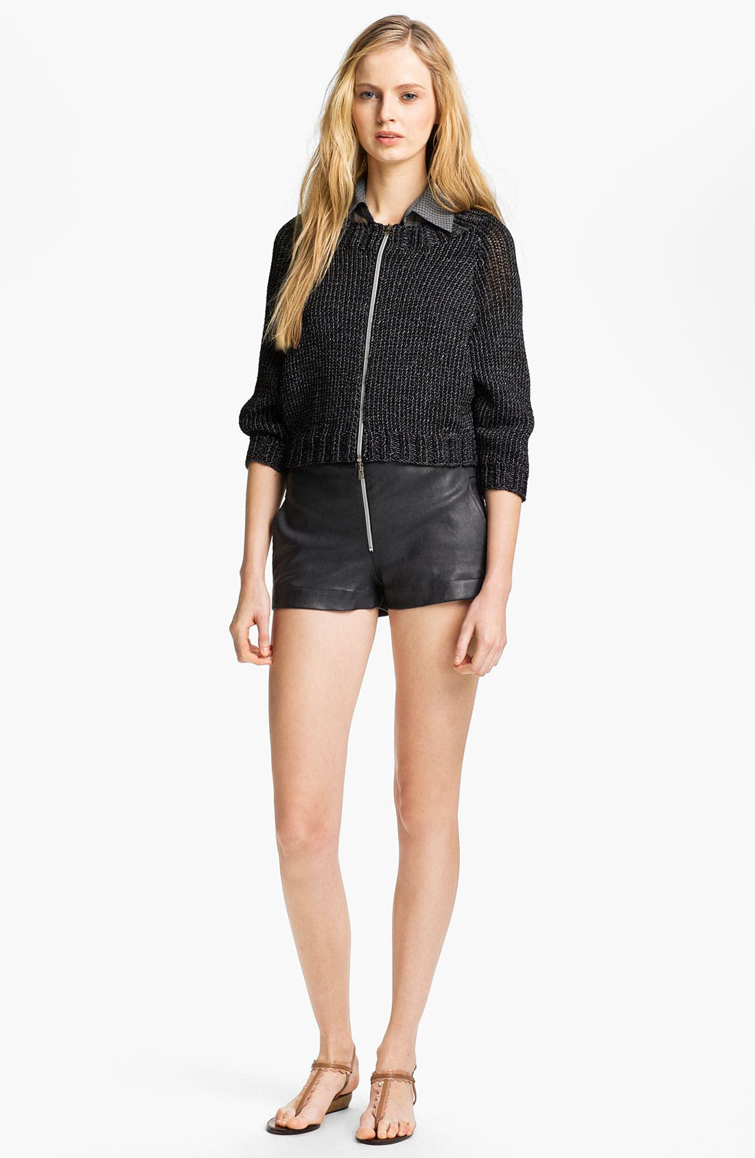 Alternate Image 5  - L'AGENCE Zip Front Crop Sweater
