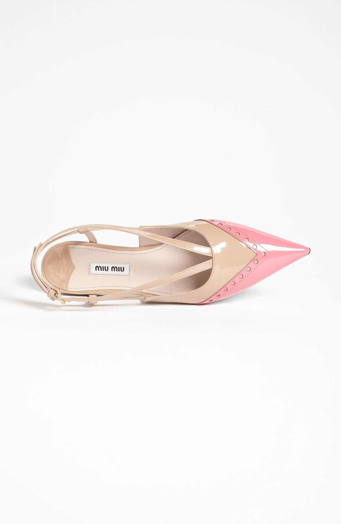 Alternate Image 3  - Miu Miu Pointed Toe Ballet Flat