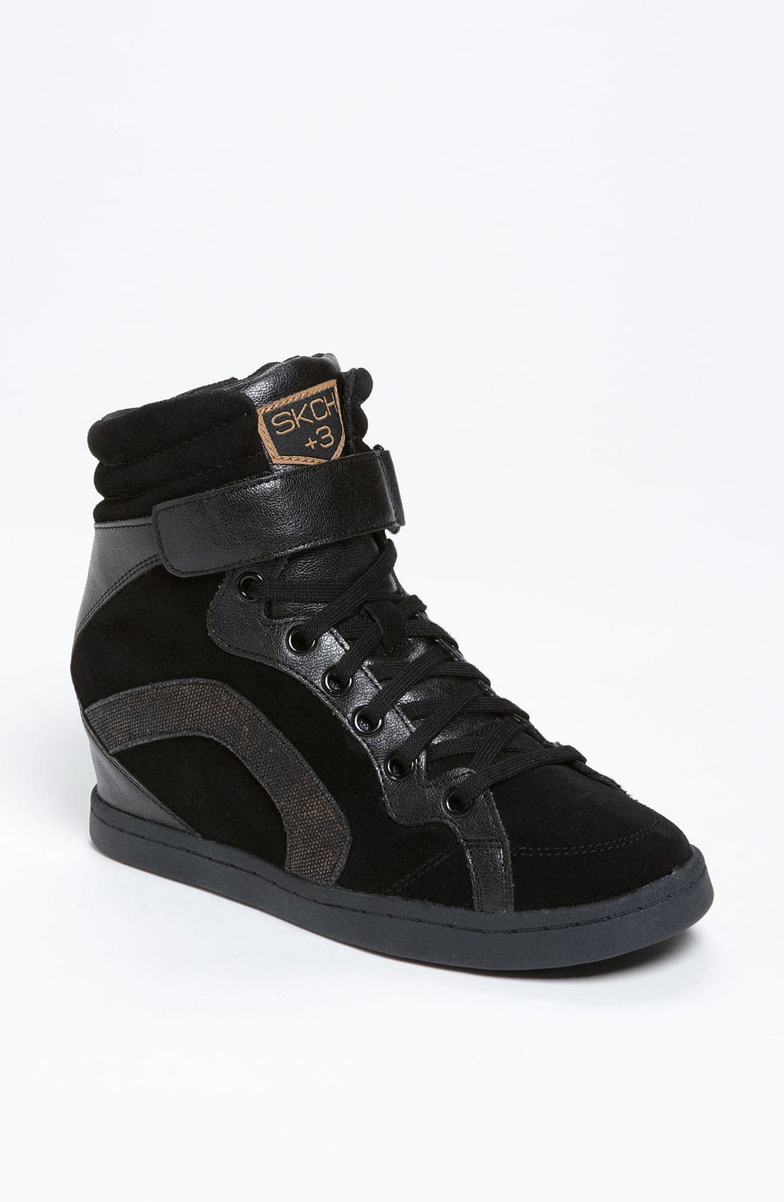 Main Image - SKECHERS 'Three Booster' Wedge Sneaker (Women)