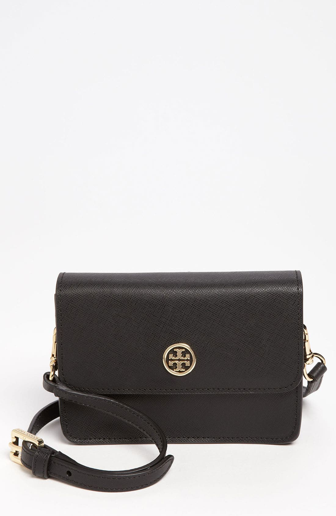 Main Image - Tory Burch 'Robinson - Mini' Leather Crossbody Bag