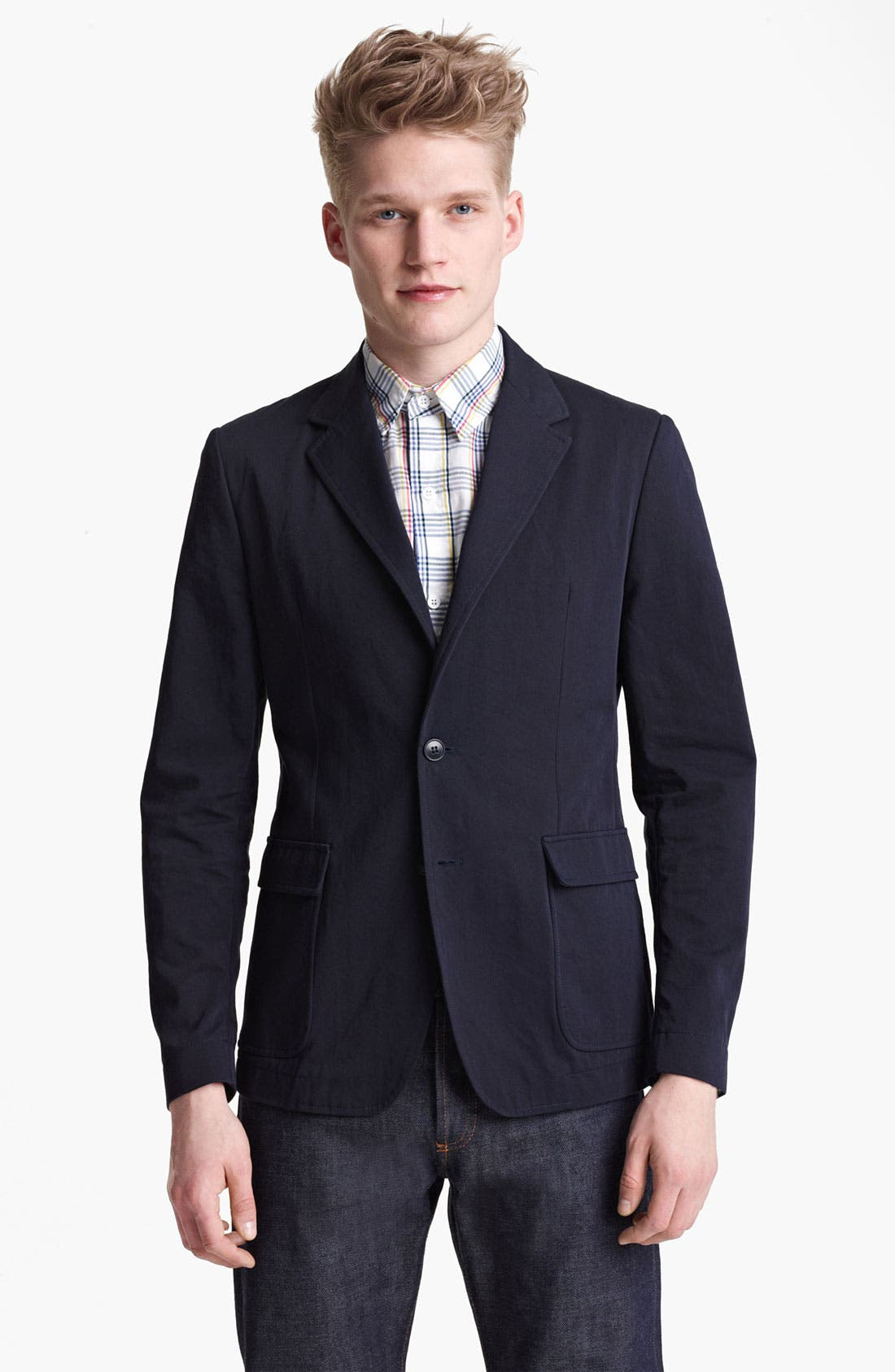 Alternate Image 1 Selected - Band of Outsiders Cotton Blazer
