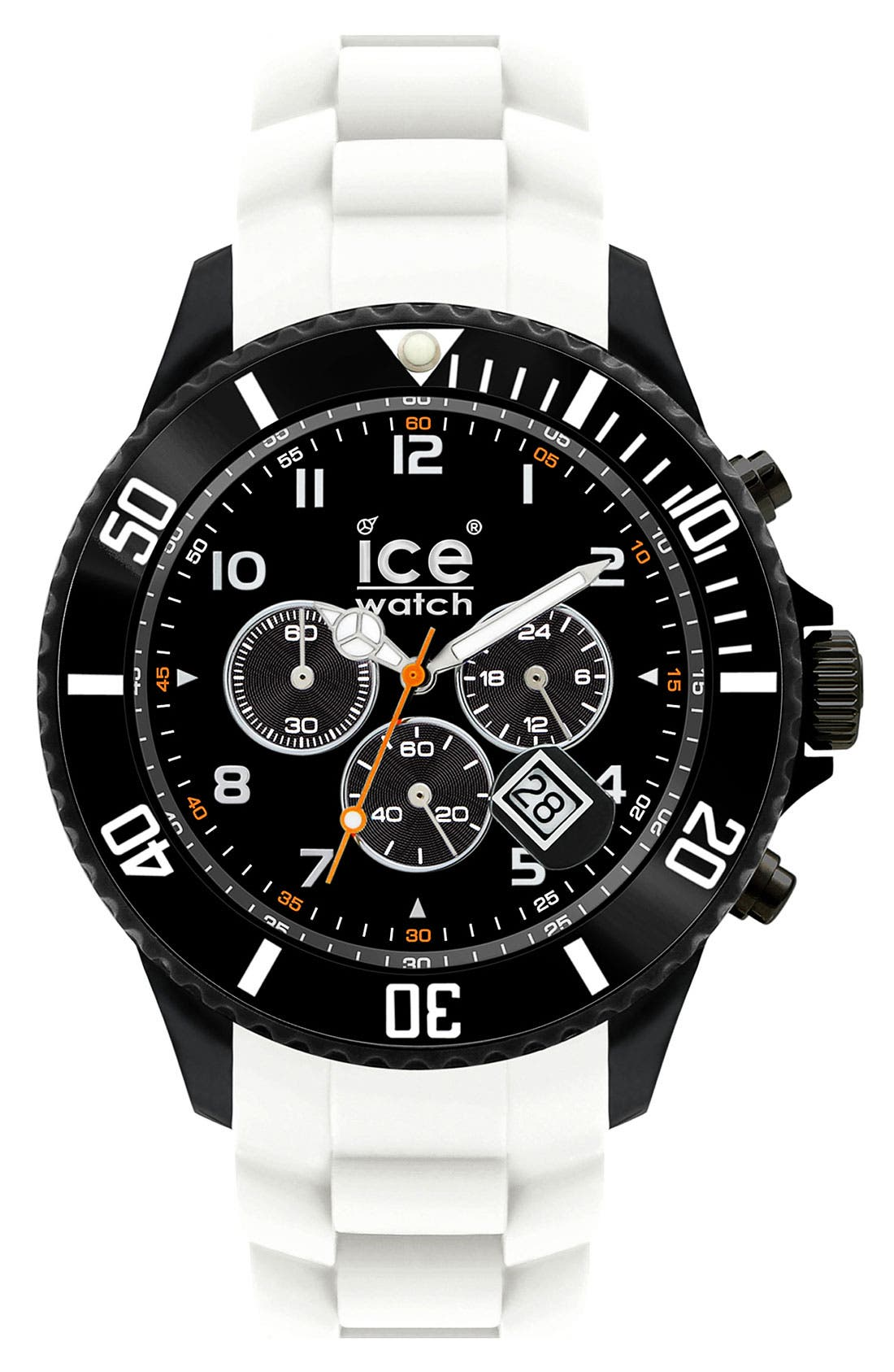 Main Image - ICE Watch Chronograph Silicone Strap Watch, 48mm