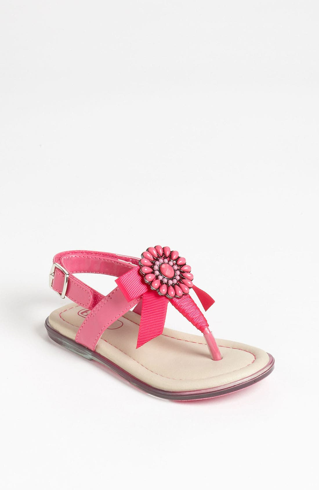Alternate Image 1 Selected - Enzo 'Kristina' Bow Sandal (Toddler)