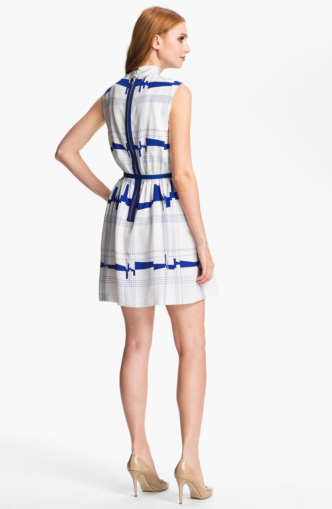 Alternate Image 2  - Milly 'Secretary' Silk A-Line Dress