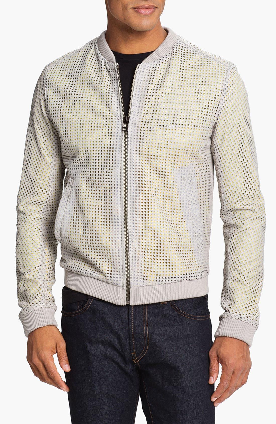 Alternate Image 1 Selected - adidas SLVR Leather Jacket