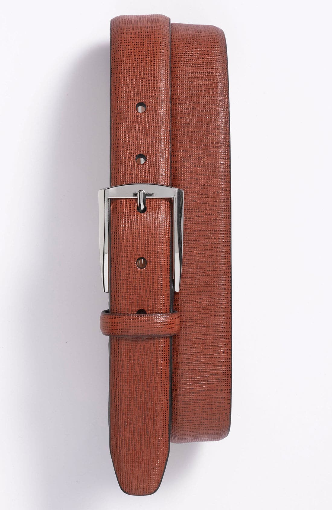 Alternate Image 1 Selected - Trafalgar Feather Edge Leather Dress Belt