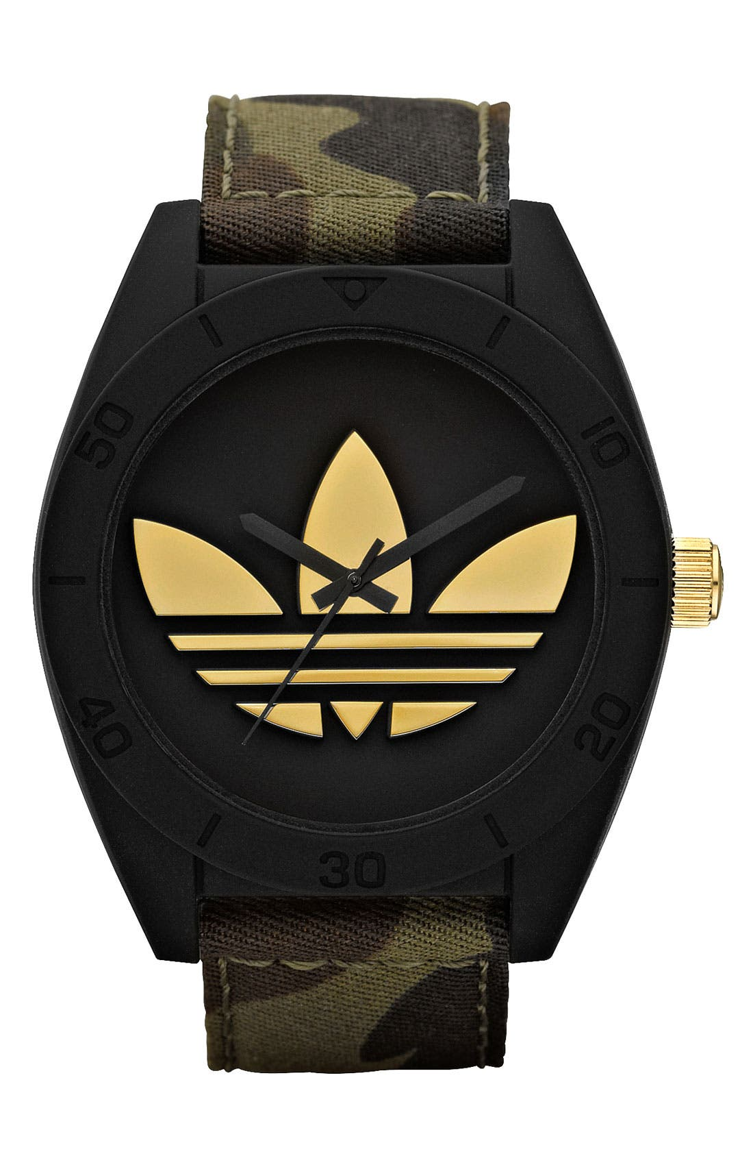 Alternate Image 1 Selected - adidas Originals 'Santiago XL' Camo Strap Watch