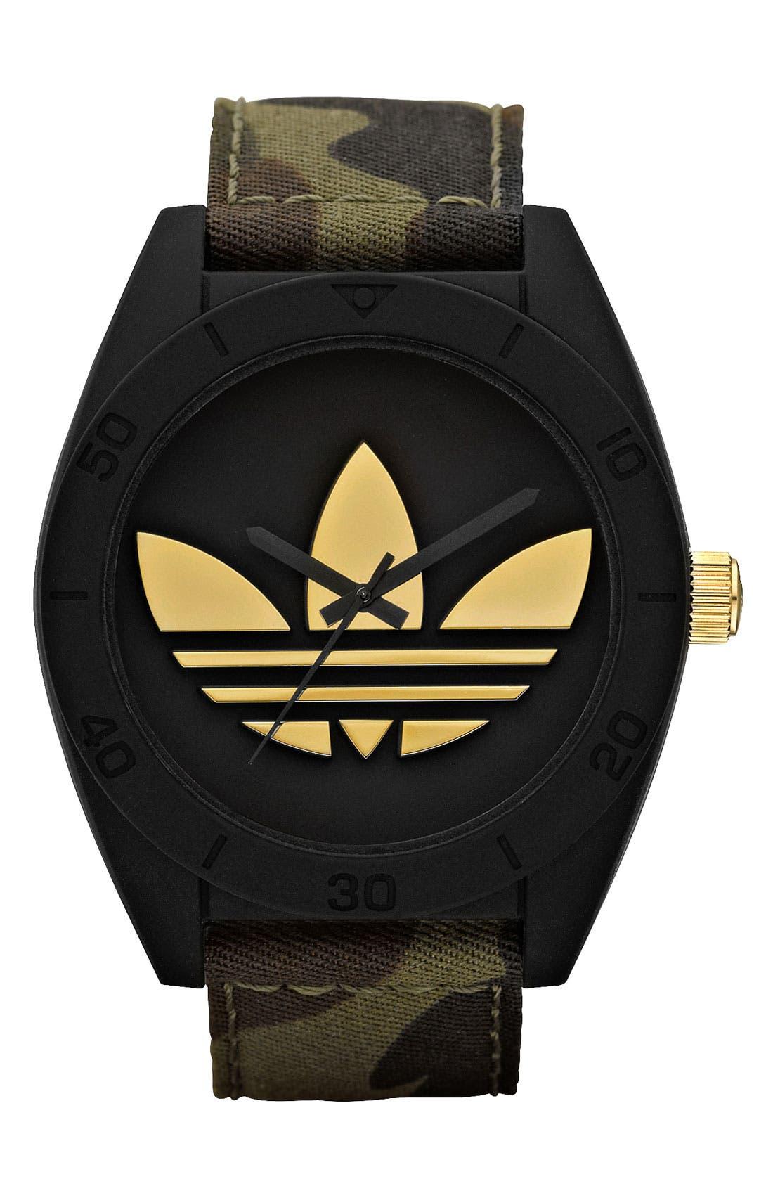 Main Image - adidas Originals 'Santiago XL' Camo Strap Watch