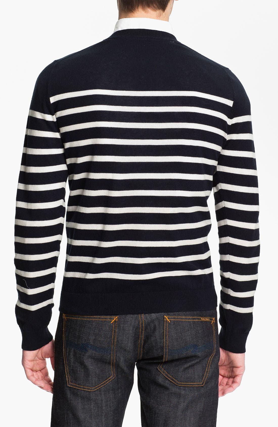 Alternate Image 2  - Wallin & Bros. 'Drayton Stripe' Crewneck Sweater