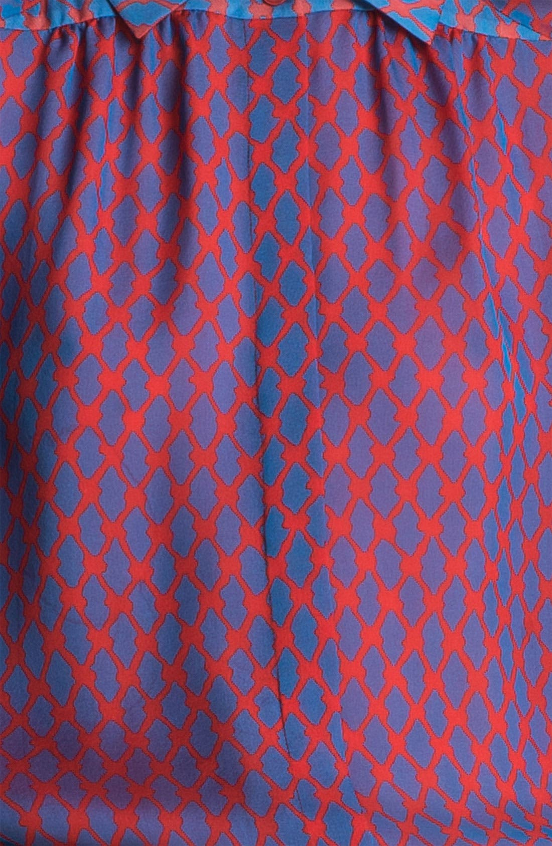 Alternate Image 6  - Miss Wu Geometric Print Chiffon Blouse (Nordstrom Exclusive)