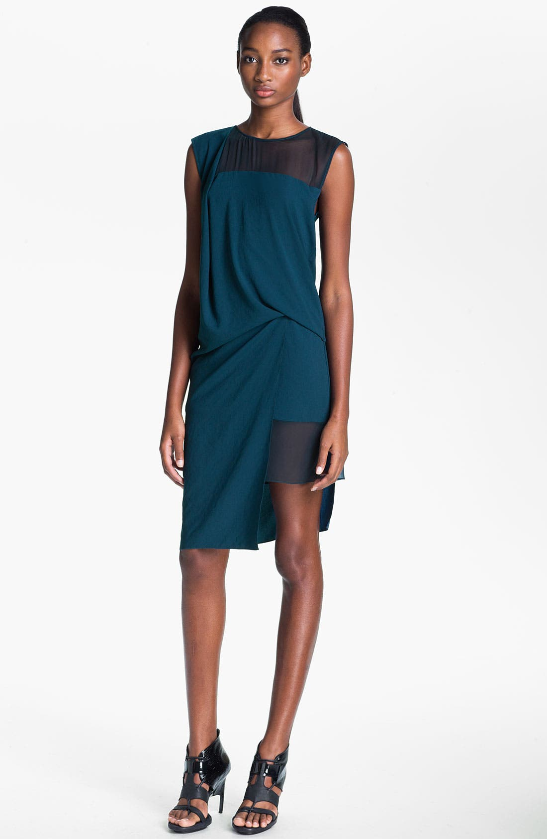 Main Image - Helmut Lang Draped Crepe Dress