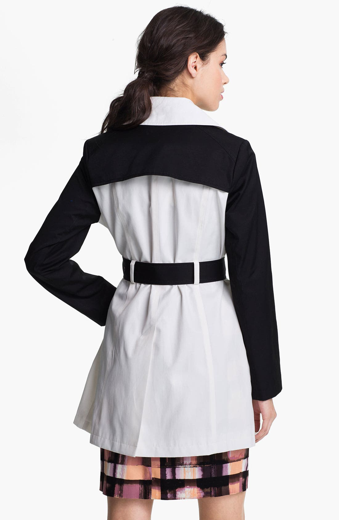 Alternate Image 3  - DKNY Two Tone Trench Coat (Online Only)