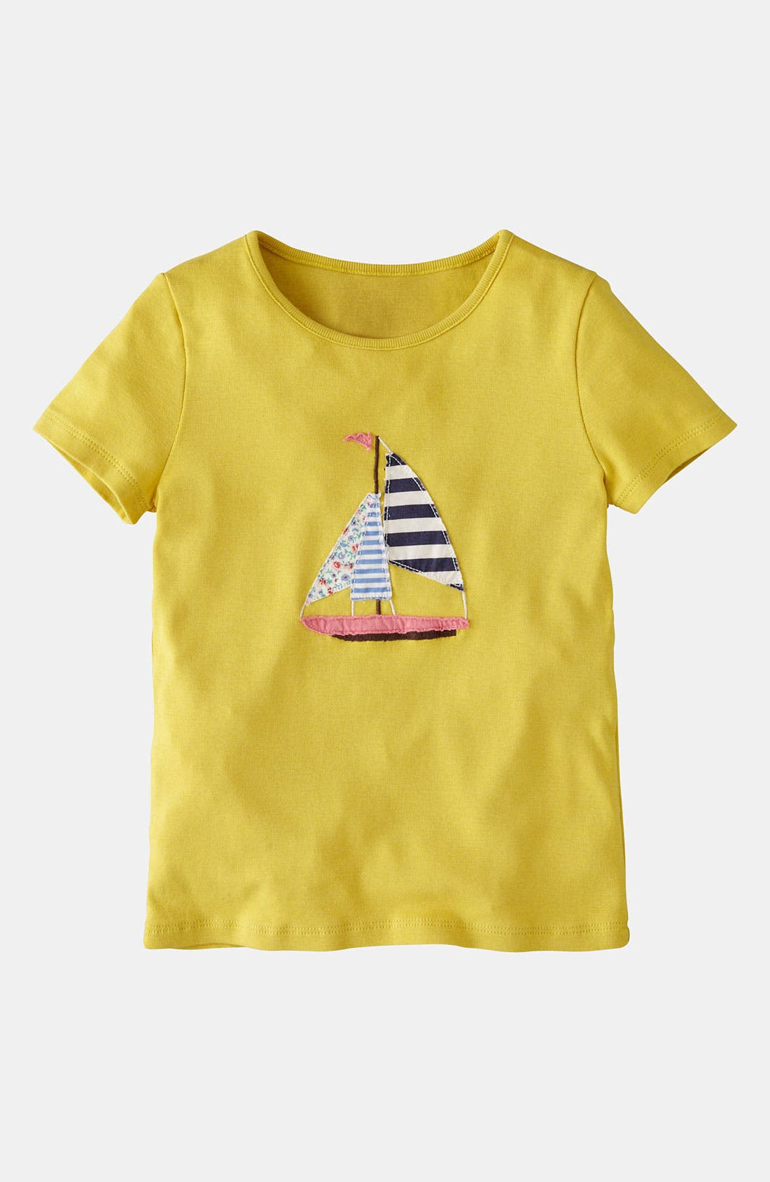 Alternate Image 1 Selected - Mini Boden Appliqué Tee (Little Girls & Big Girls)