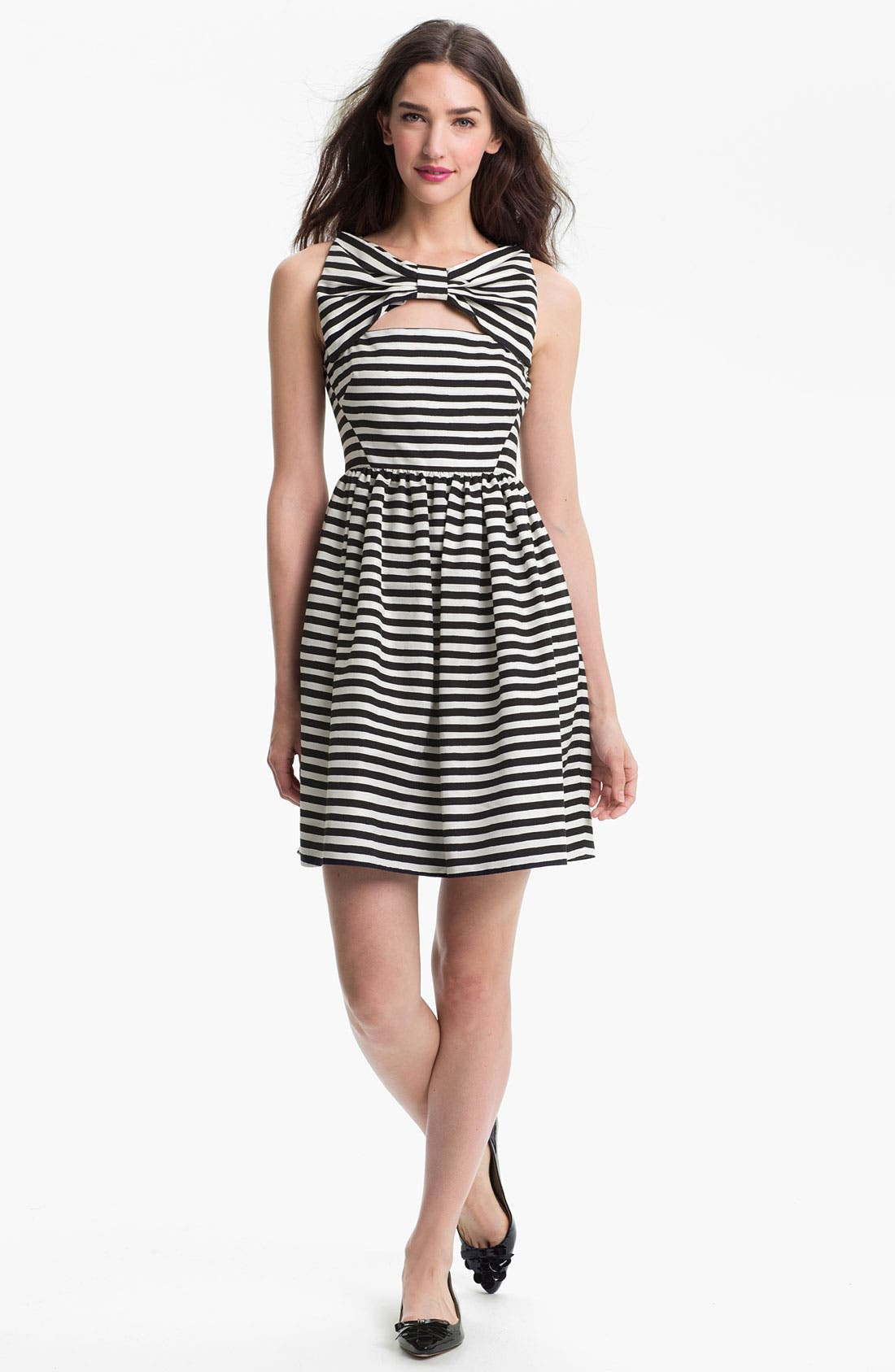 Main Image - kate spade new york 'vivien' stripe fit & flare dress