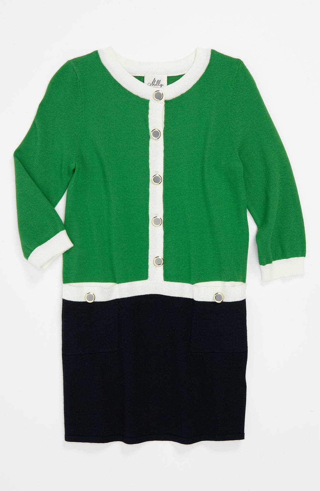 Alternate Image 1 Selected - Milly Minis 'Catie' Combo Knit Dress (Big Girls)