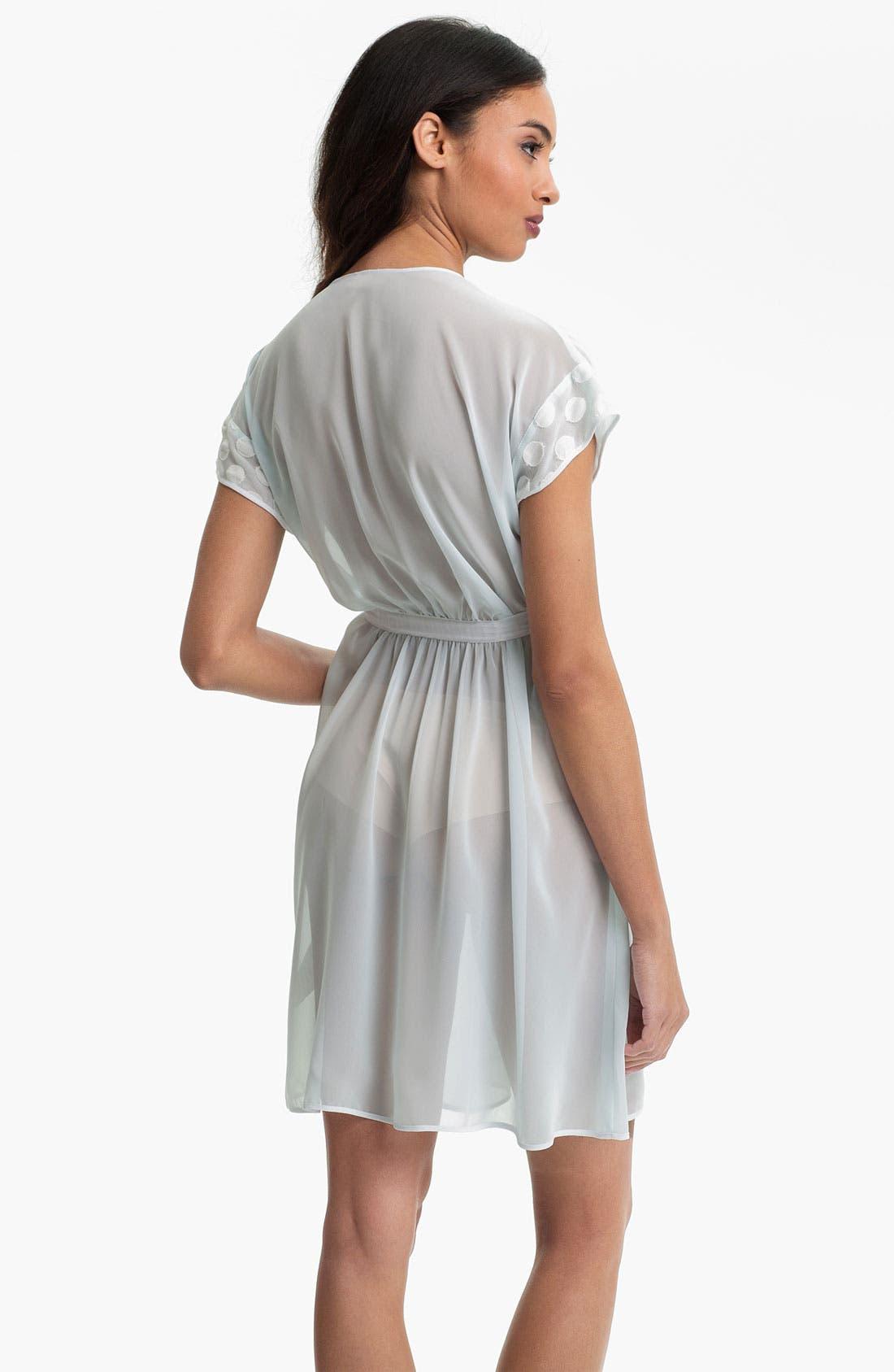 Alternate Image 2  - Oscar de la Renta Sleepwear 'Sweet Dot' Short Sheer Robe