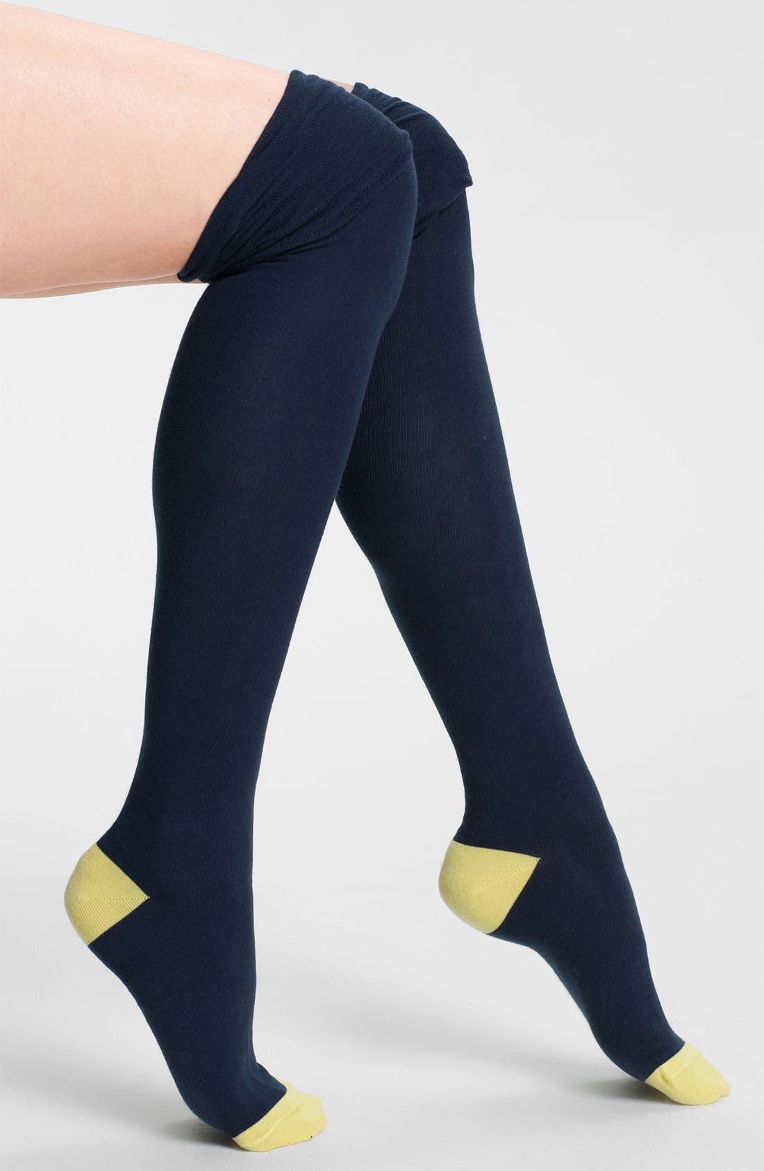 Alternate Image 1 Selected - Nordstrom 'Tip Top' Over the Knee Socks