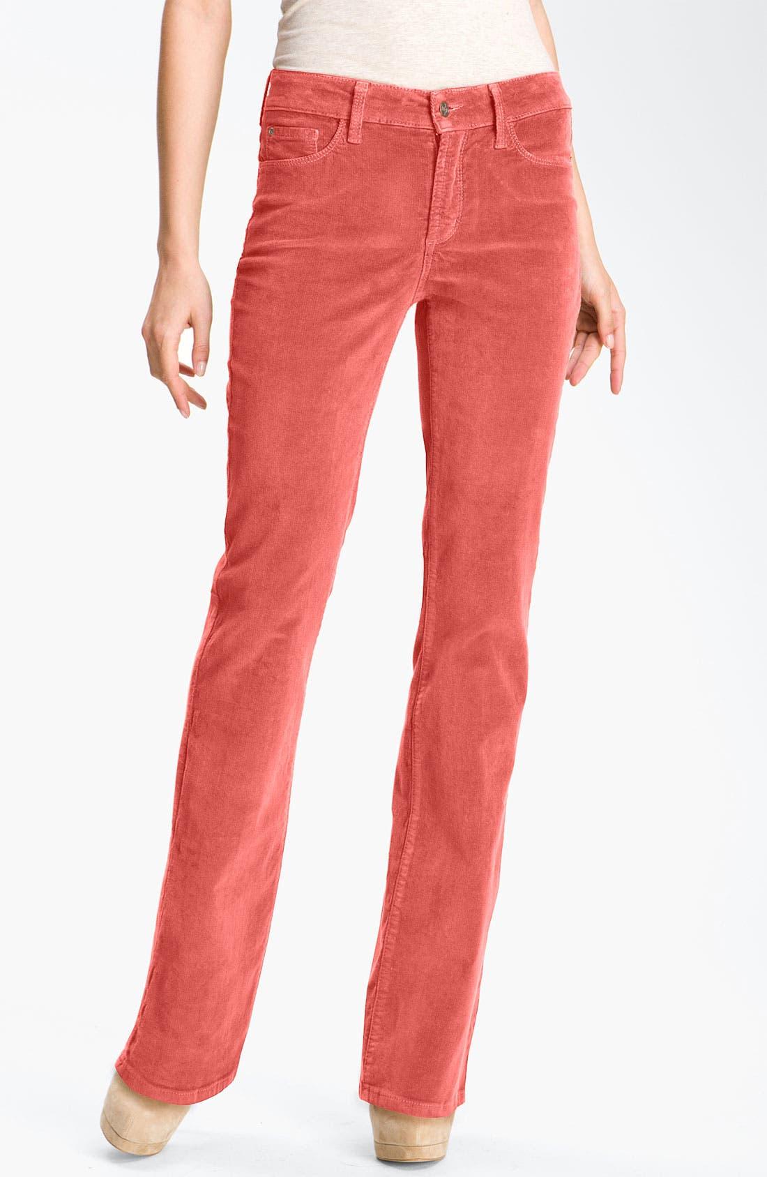 Alternate Image 1 Selected - NYDJ Bootcut Corduroy Jeans (Petite)