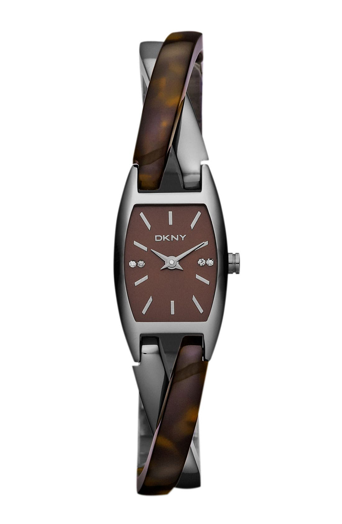 Alternate Image 1 Selected - DKNY Crossover Bangle Watch