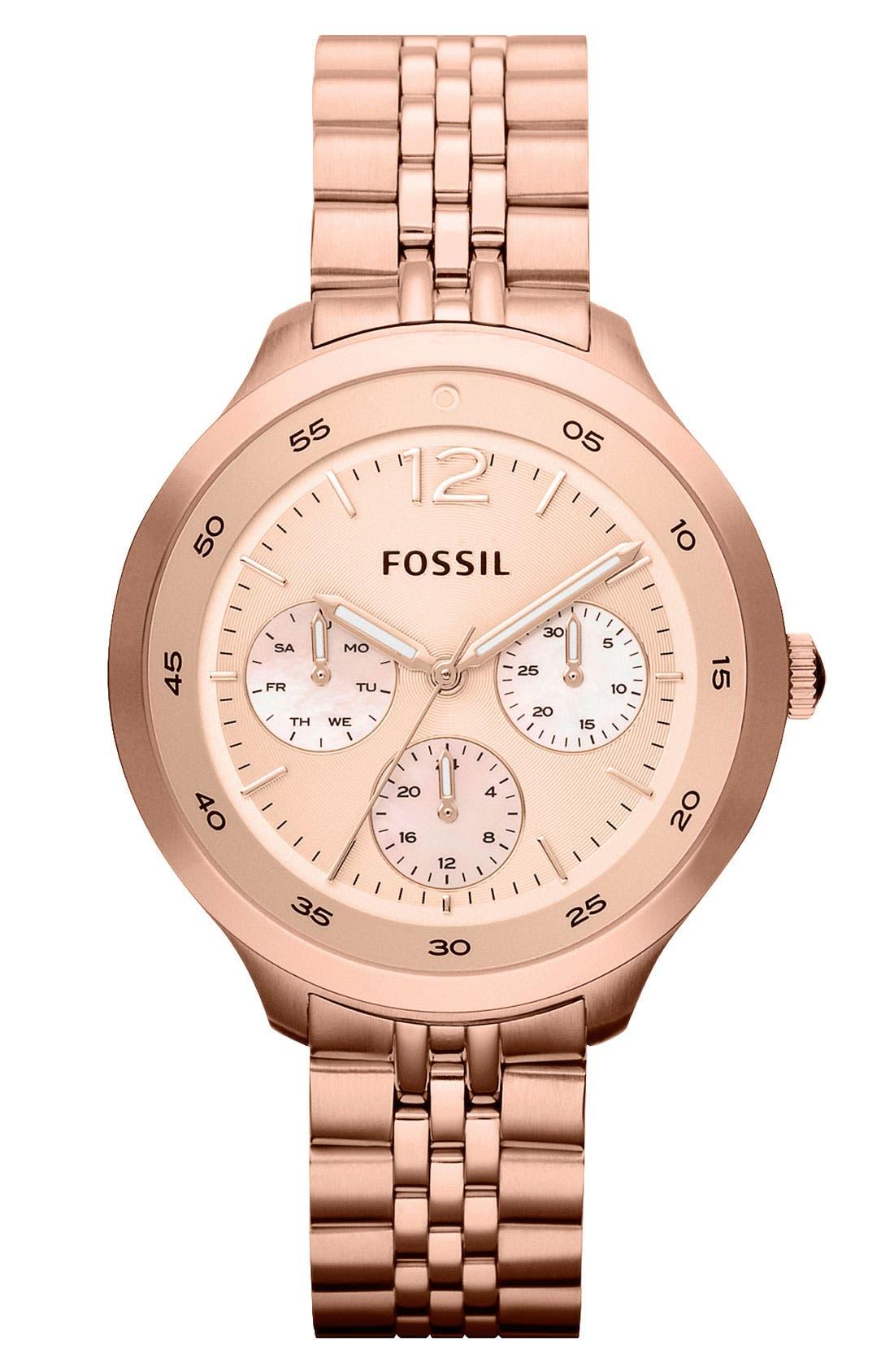 Main Image - Fossil 'Editor' Bracelet Watch, 38mm