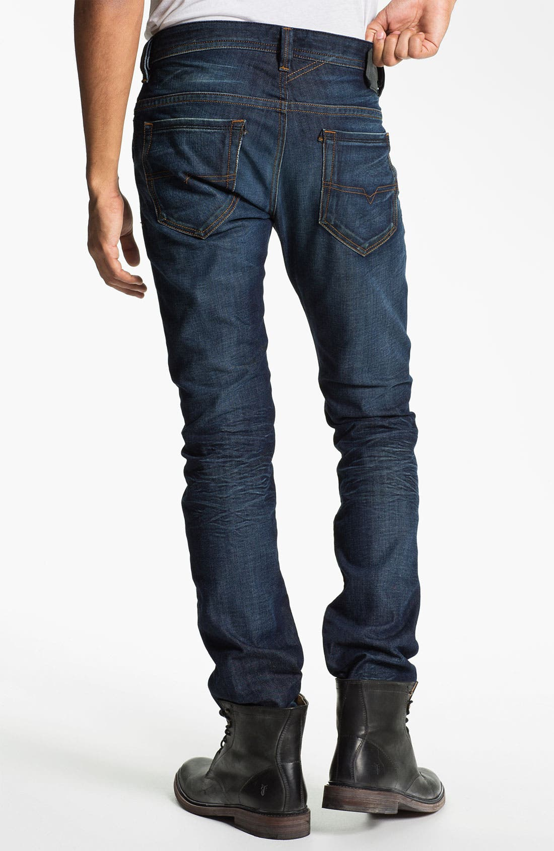 Alternate Image 1 Selected - DIESEL® 'Thavar' Slim Skinny Leg Jeans (0806U)