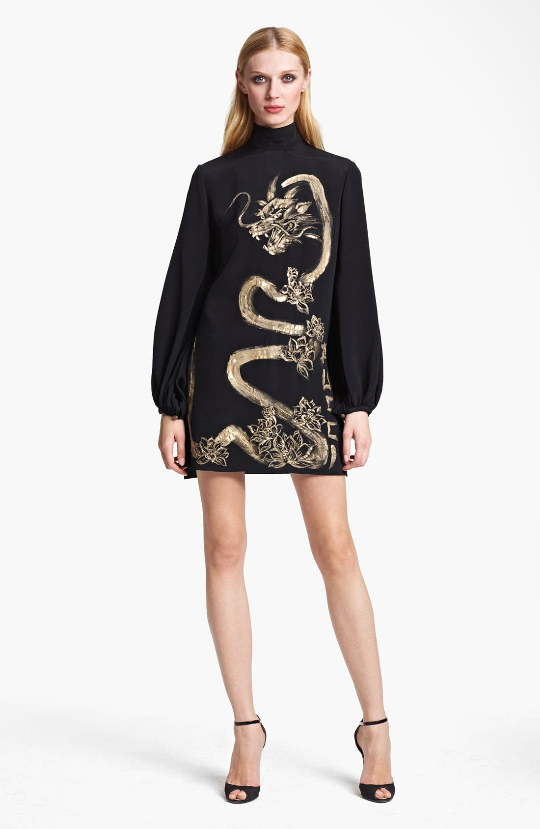 Main Image - Emilio Pucci Painted Dragon Cady Dress