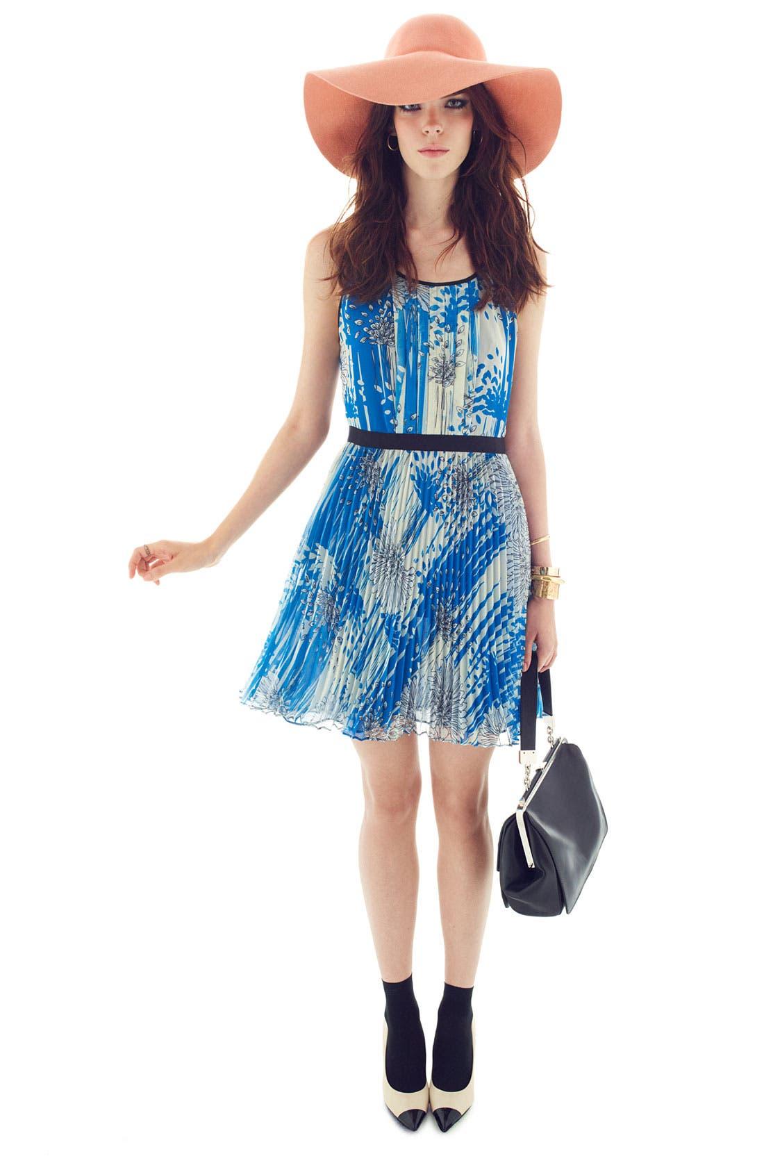 Alternate Image 4  - Miss Wu Print Chiffon Dress (Nordstrom Exclusive)