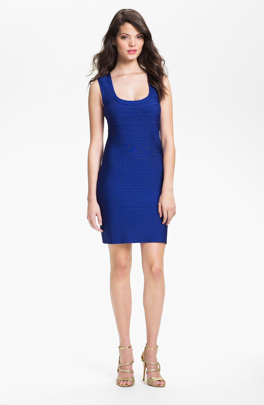 Alternate Image 1 Selected - Calvin Klein Scoop Neck Bandage Dress