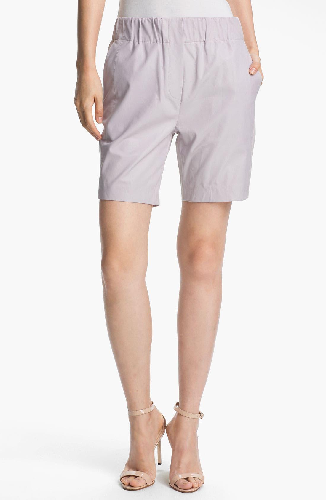 Main Image - Halston Heritage Leather Shorts