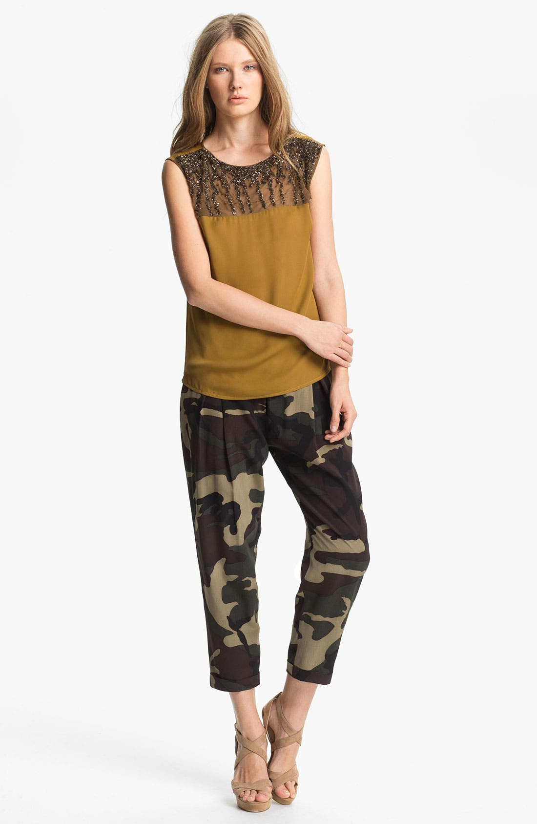 Alternate Image 6  - Haute Hippie Camo Print Drawstring Trousers