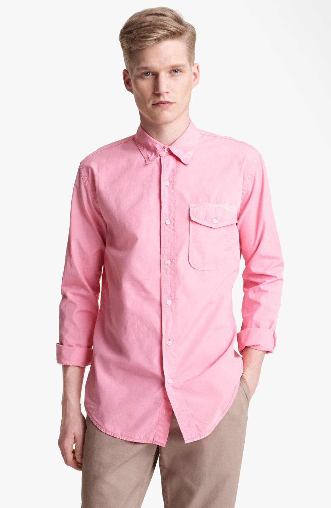 Alternate Image 1 Selected - Save Khaki Poplin Shirt
