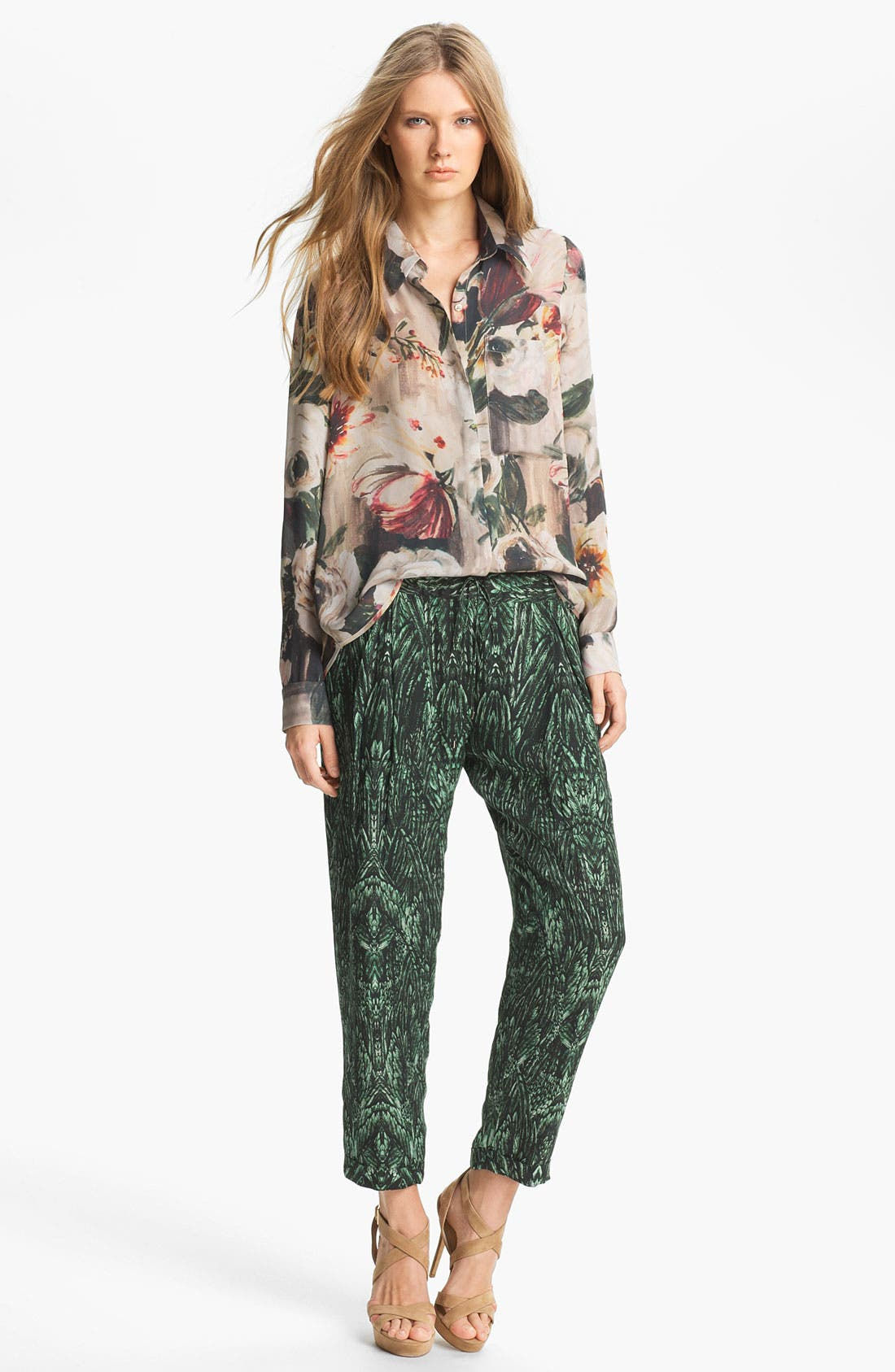 Alternate Image 4  - Haute Hippie Print Drawstring Trousers